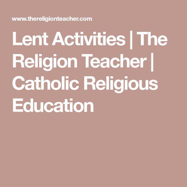 Lent Activities | The Religion Teacher | Catholic Religious Education