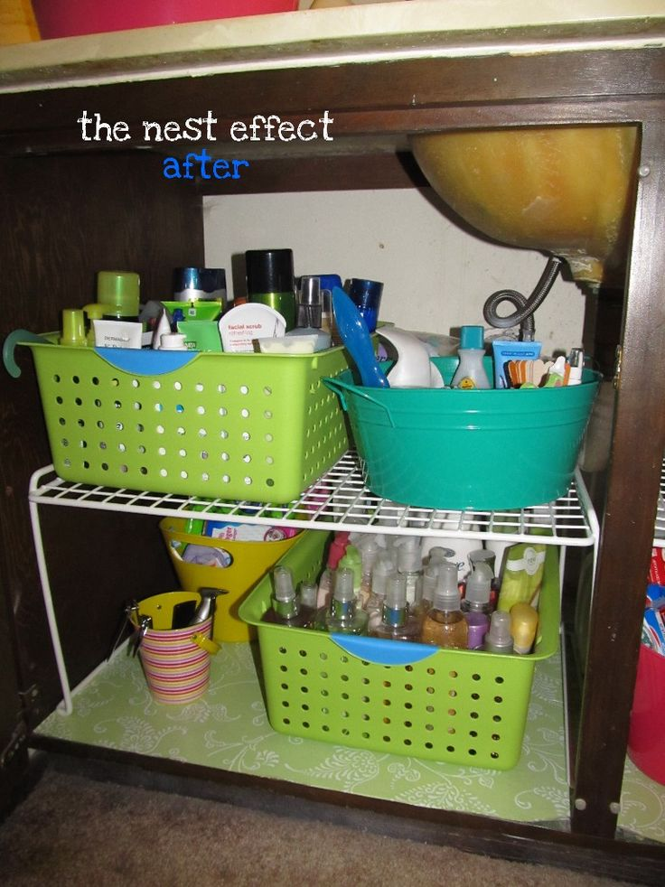 Organize under the bathroom sink around the house How to organize bathroom