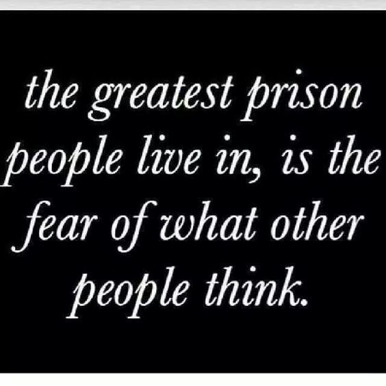 Time to let go of what you think others are thinking and just worry about yourself.