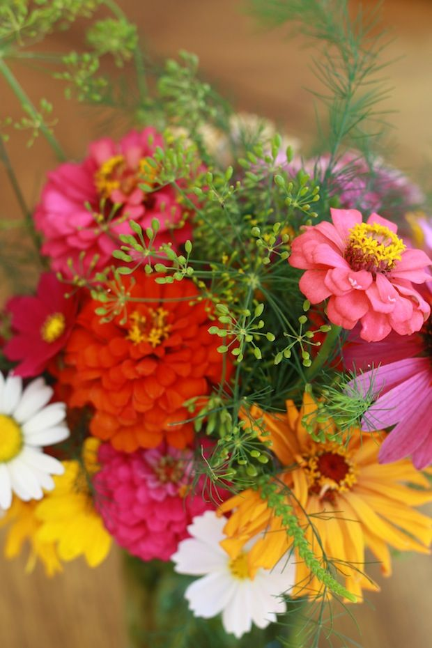 Hmmmm....Food or art..dill! Summer flower bouquet with dill weed spice