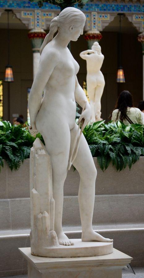 Hiram Powers 1805-1873 - California 1850-1858 right (and Frederick Wellington Ruckstull 1853–1942 - Evening 1887-1891 back) - Metropolitan Museum of Art, New York, June 2009