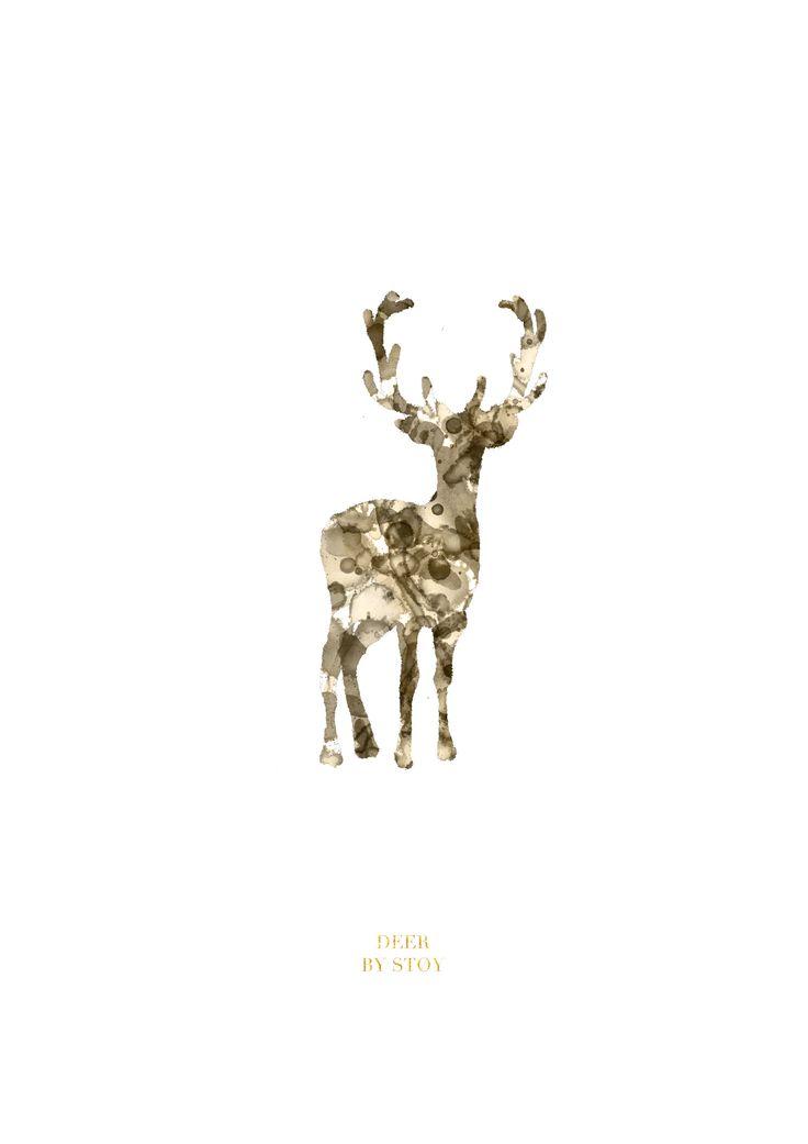 """Deer"" Illustration by Nadia Støy"