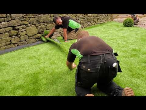 7 Stages to getting your perfect Artificial Lawn | West Yorkshire Artificial Grass - YouTube
