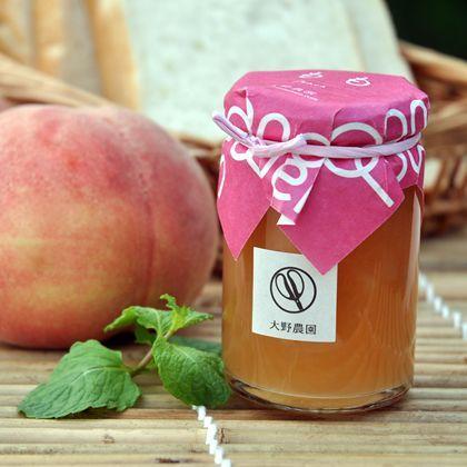 完熟した白桃の果肉をふんだんに入れた高級感あふれる極上の仕上がり。ももジャムの通信販売: