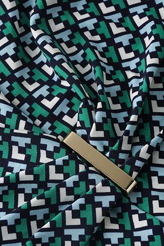 Esprit / Strečové potištěné žerzejové šaty