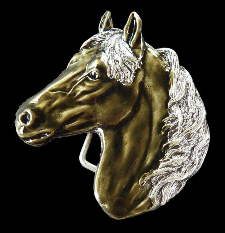 Horse Head Western Rodeo Cowboy Godfather Belt Buckle