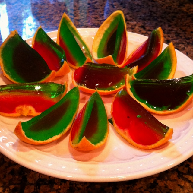 Jello orange slices. Kids loved them!