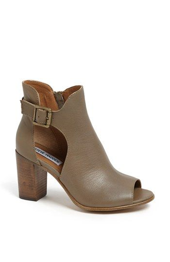 Steve Madden 'Nextstar' Peep Toe Bootie available at #Nordstrom; the thing for spring apparently: peep toe booties