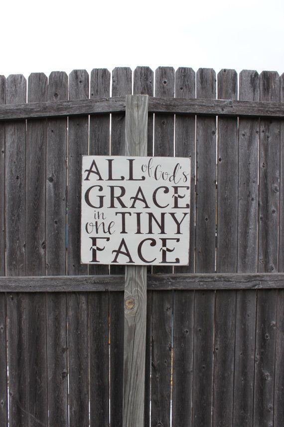 All God S Grace Sign Nursery Decor Wood Painted Sign Nursery Sign Baby Shower Gift Gift For Baby Christian Sign Christian Decor Art