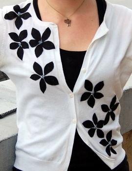 diy flower sweater