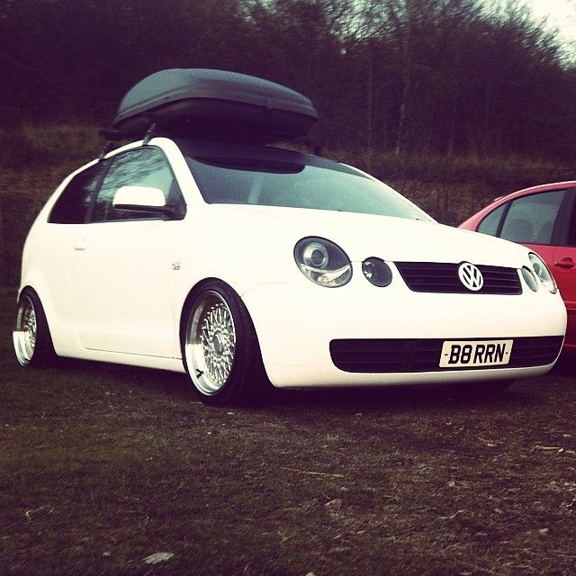 #polo #9n #vw #dub #euro #vag #wrapped #matt #white #deep #dish