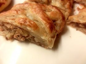 libyan food: Braided Puff Pastry with Savory Fillings