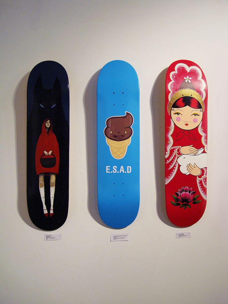 A Few More Strange Skateboard Designs These Three