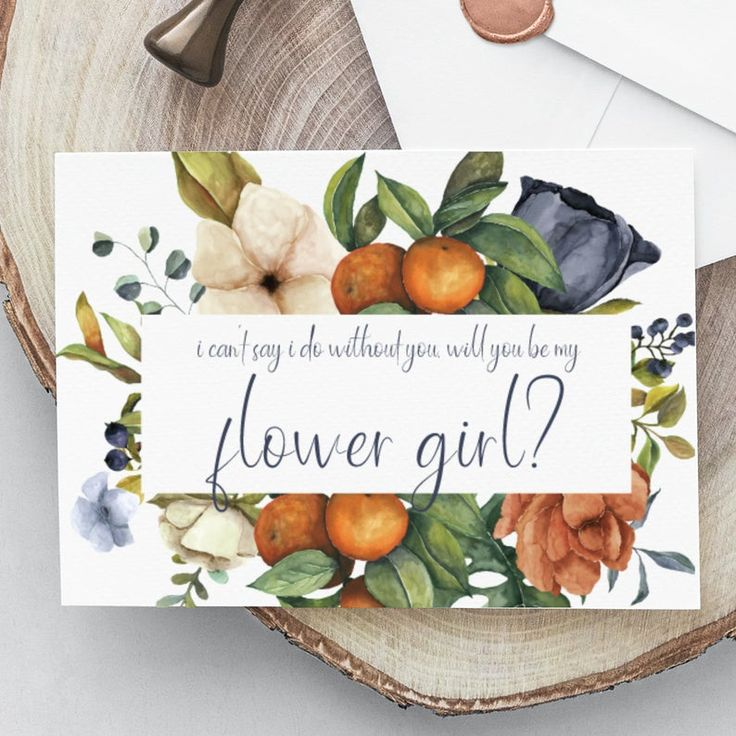 Flower girl proposal card instant download will you be