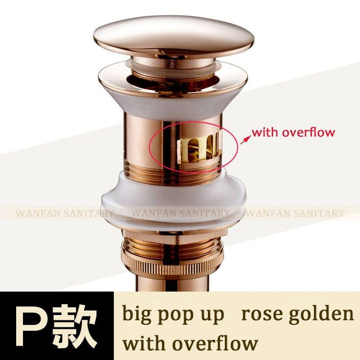 Nice W/out Overflow Brass Bathroom Lavatory Sink Pop Up Drain Bathroom Basin Sink Use Bathroom Products/Accessories Hj-0618F