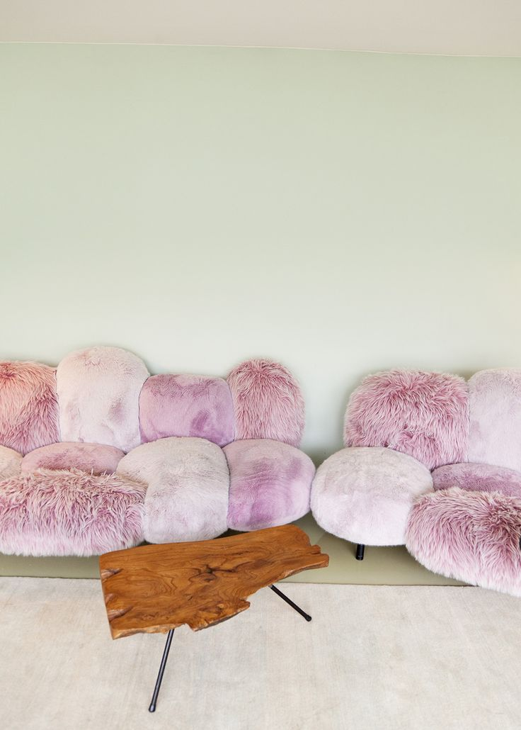 for the ultra feminine, fun and cozy couch dwellers — Home of artist Nina Pohl's via @TheSelby
