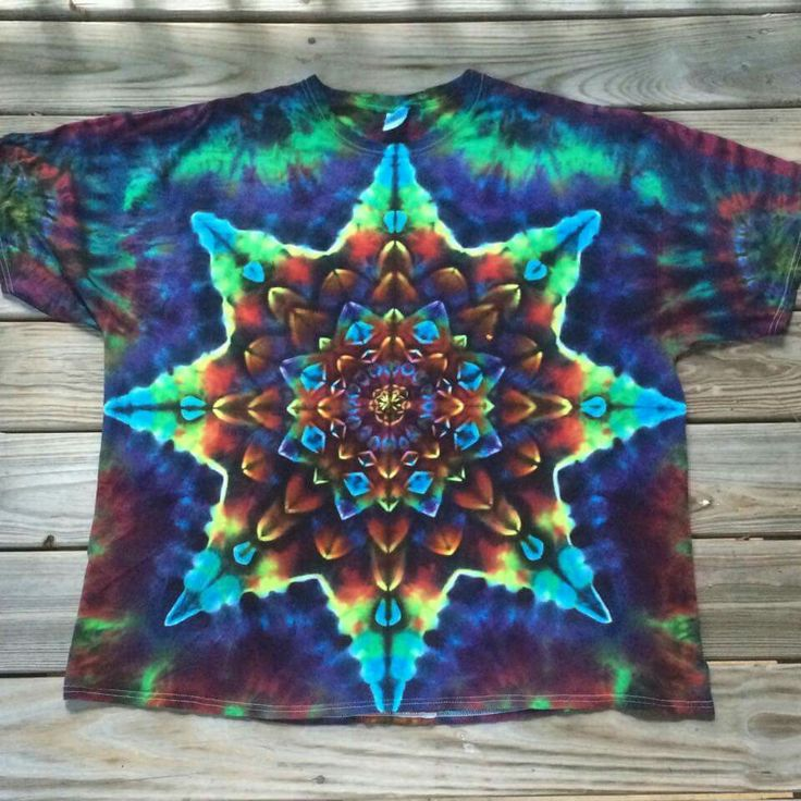 Star burst tie dye