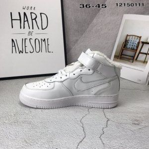 online store c27a9 d479c Nike Air Force W Sf Af 1 Triple white Plus velvet Mens Womens Winter  Running Shoes