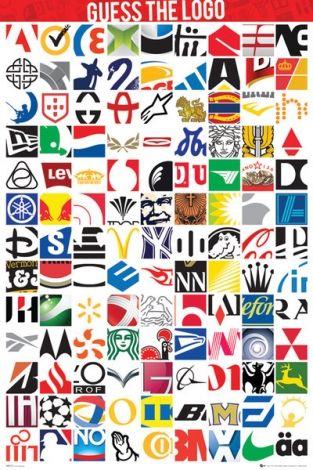 Guess The Logo - plakat - 61x91,5 cm  Gdzie kupić? www.eplakaty.pl