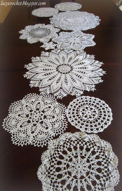 Free Crochet Patterns For Table Doilies : 25+ best ideas about Crochet table runner on Pinterest ...