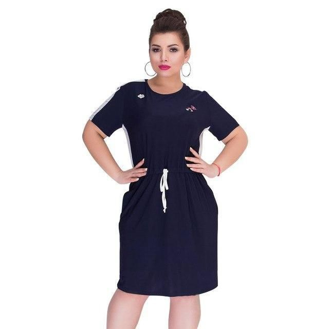 537a58315b186 Short Sleeve Patchwork Dress | Plus Size Dresses | Short summer ...