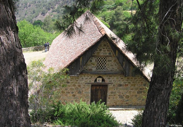 """Cyprus Platanistasa Village - """"Stavros tou Agiasmati"""" church. A listed UNESCO World Heritage Site. It retains the most complete cycles of mural paintings of the second half of the 15th century."""