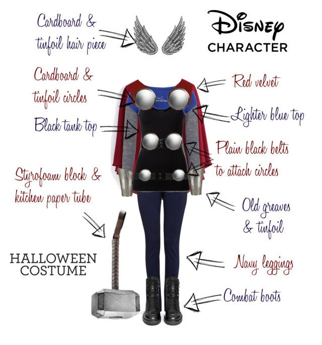 """""""Easy 'Thor' Halloween Costume"""" by renna-ravenwood ❤ liked on Polyvore featuring Chicwish, Winser London, French Connection, Jane Norman, Theory, Hell Bunny, Villiers, Gucci, Marni and AS29"""