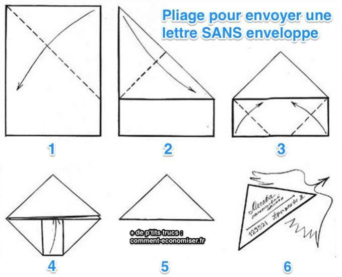 Pliage du papier pour envoyer une lettre sans enveloppe !