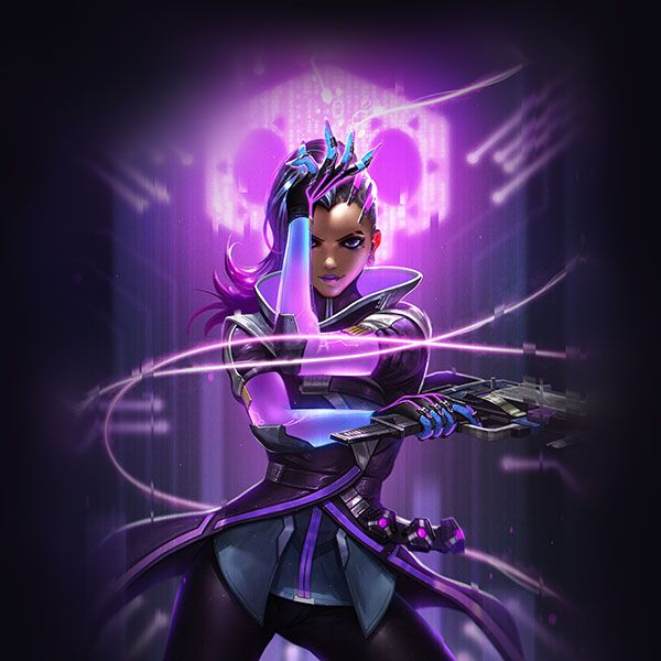 Papers.co wallpapers - aw56-liang-xing-overwatch-sombra-purple-game-hero-illustration-art - http://papers.co/aw56-liang-xing-overwatch-sombra-purple-game-hero-illustration-art/ - game, hero, illustration