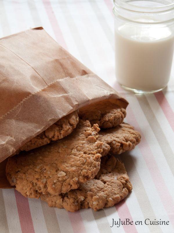Oatmeal Cookies (sans beurre) à la purée de noix de cajou, beurre de cacahuètes et éclats de cacahuètes