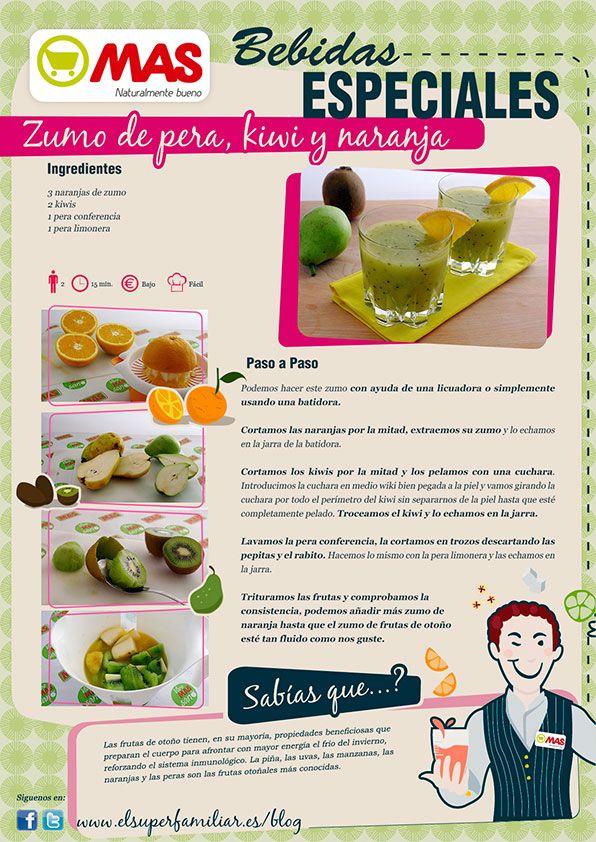 Delicioso, nutritivo, depurativo y refrescante... ¡nuestro Zumo de Frutas de Otoño lo tiene todo! #InfoReceta #Receta