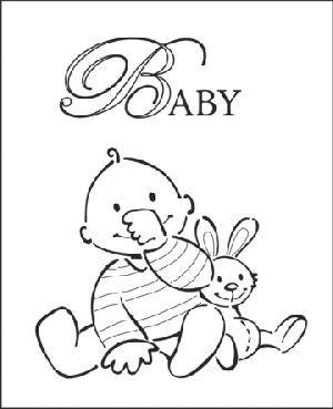 Ec0111 Eline's baby jongen - Eline's Babies - Marianne Design Clear stamps - Hobbynu.nl
