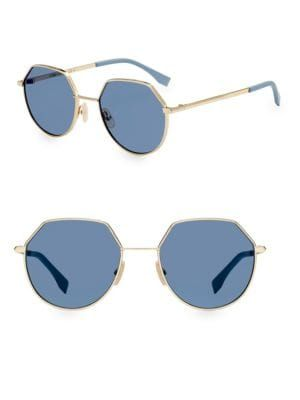 45b14ac295a FENDI 54MM Hexagonal Sunglasses.  fendi