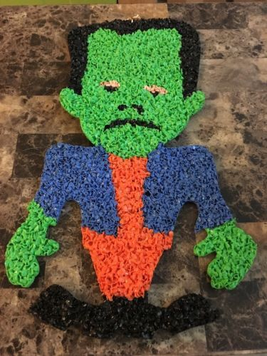 Vintage-Frankenstein-Monster-Halloween-Melted-Popcorn-Decoration