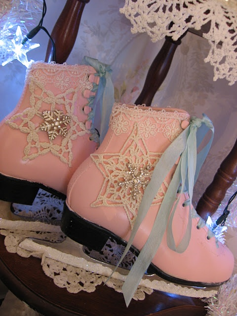 Pretty pink ice skates by Jennifer Grenko