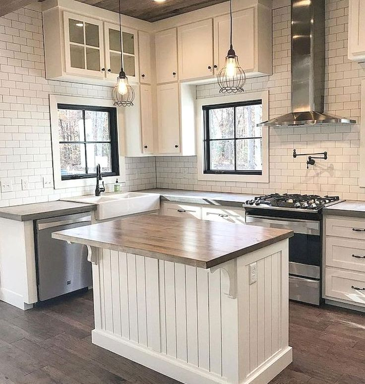 Kitchen Cabinets In Garage Ideas And Pics Of Decals Kitchen Cabinet Doors T Small Farmhouse Kitchen Farmhouse Kitchen Countertops Farmhouse Kitchen Backsplash