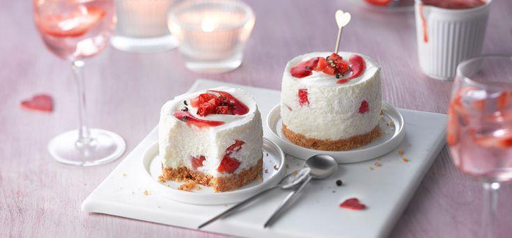 Philadelphia Philadelphia Cheesecake με φράουλες