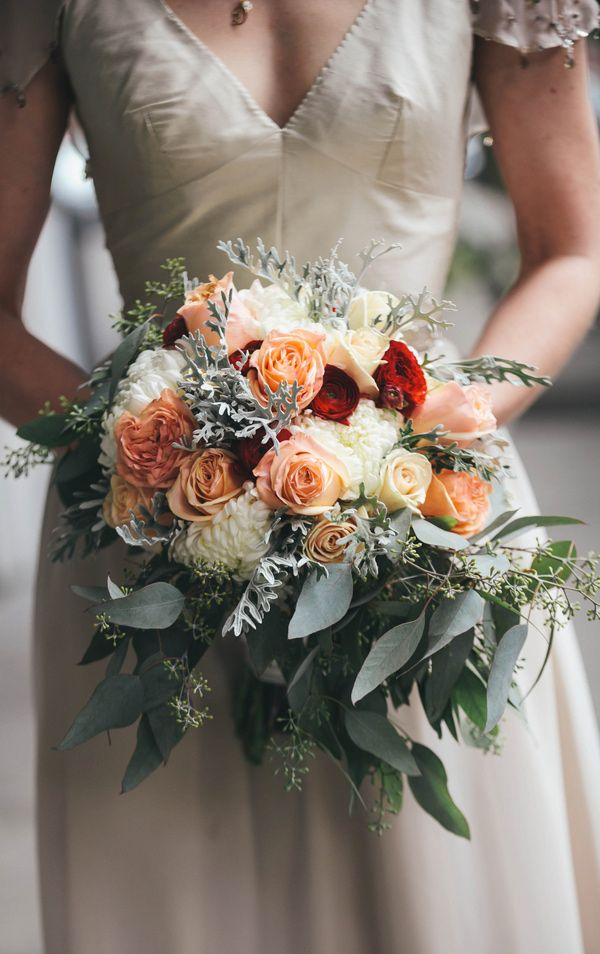 incredible winter bouquet // photo by @Tara Harmon Kneiser http://ruffledblog.com/1920s-inspired-knoxville-wedding #bouquet #flowers