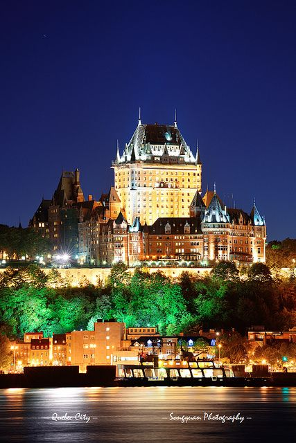 Chateau Frontenac, Quebec City - where my husband and I had our wedding reception