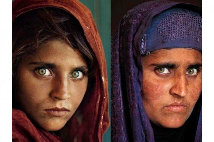 Se trata de Sharbat Bibi, que se convirtió en icono internacional con sus grandes ojos verdes cuando era una niña y que ahora tiene unos 45 años.