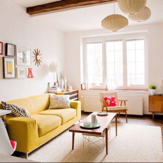 cute yellow living room.