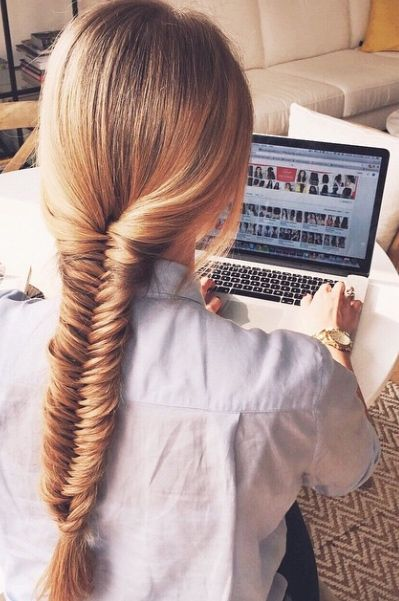 How perfect is this Fishtail Braid?! Katrina is wearing her Strawberry Blonde Luxy Hair Extensions to add volume to this hairstyle. We love it! | Click to check out this!   https://instagram.com/lipskatron/