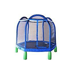 My first trampoline with enclosure by sportspower. A 100% safe starter trampoline for your kid. Give it a look http://toyveteran.com/my-first-trampoline-with-enclosure-84-review/