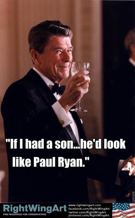 Ronald Reagan knows the difference between Paul Ryan and Trayvon Martin..