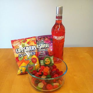 vodka gummy bears recipe | Here's all you need. Plus some fruit punch in the end.
