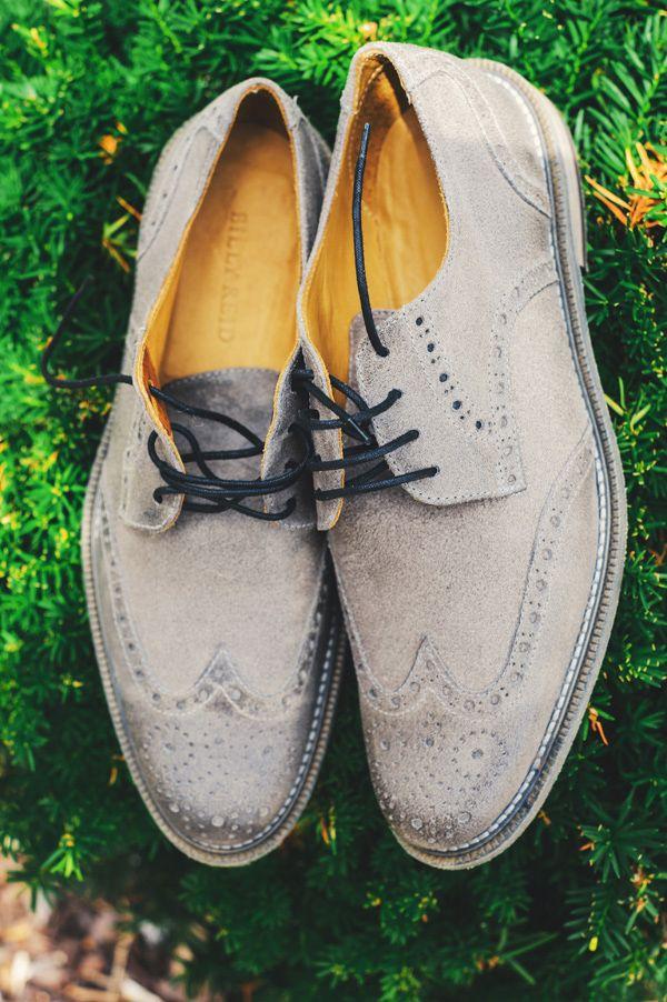 shoes for the groom http://www.weddingchicks.com/2013/11/26/gold-and-gray-wedding/