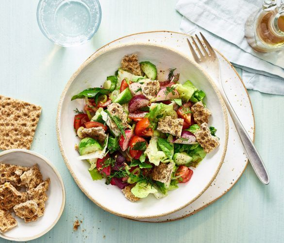 Middle Eastern Fattoush Salad with Ryvita Croutons