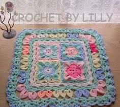Image result for granny square baby blanket flower