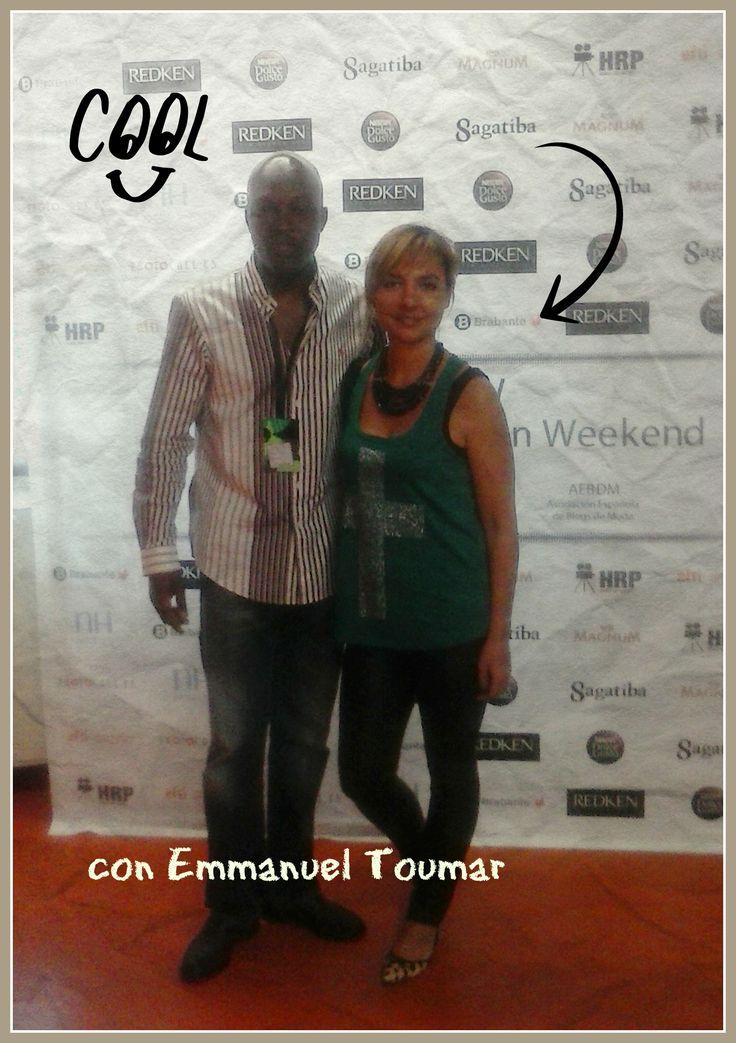 Isabel Jorquera con Emmanuel Toumar