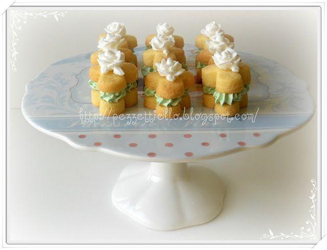 Le Torte di Pezzettiello e non solo...: Pasticcini fioriti